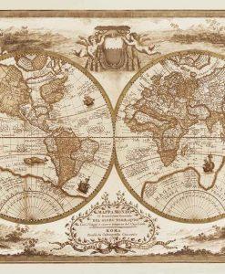 Mappa settecentesca del globo