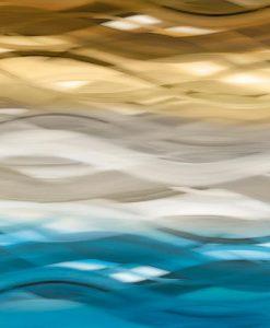 Flusso e movimento color blu e oro