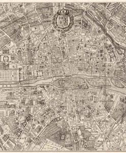 Vecchia mappa di Parigi