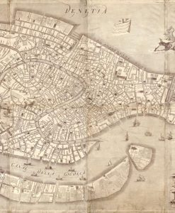 Vecchia mappa di Venezia