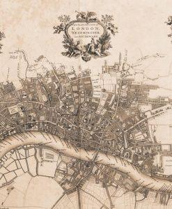 Vecchia mappa di Londra