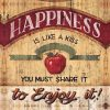 Frase motivazionale con mela