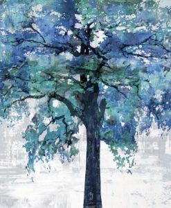 Albero con chioma dalle sfumature blu