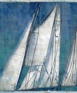 Dipinto con vele di barche