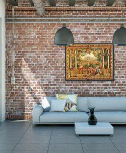 Ambientazione soggiorno Veduta del castello di Chambord con ricchi dettagli