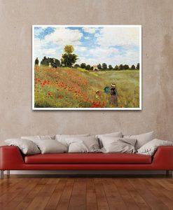 Celebre dipinto impressionista che ritrae un campo di papaveri