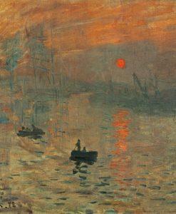 Porto marino all'alba