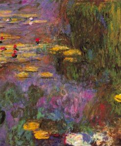 Dipinto impressionista di ninfee