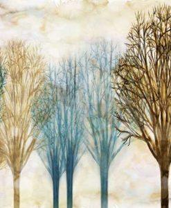 Alberi delicati dai colori invernali