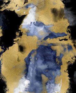 Mescolanza effetto fumo con tocchi color oro