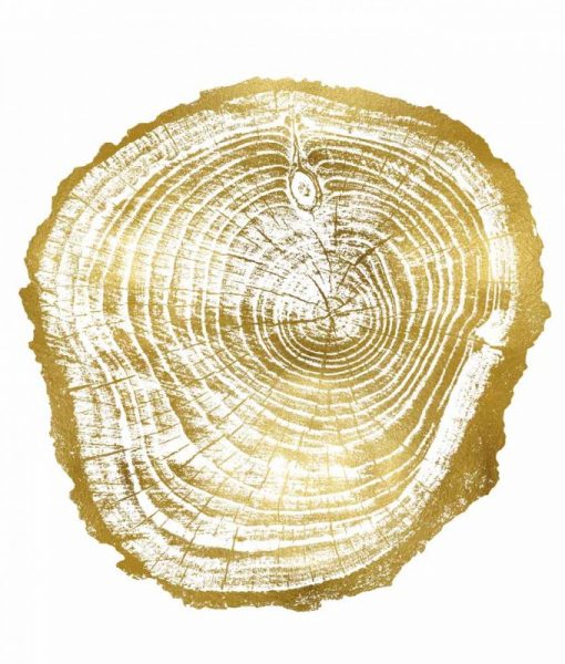 Impronta delle venature di un tronco dorate