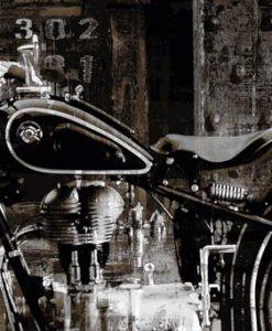 Fotografia con effetti di una motocicletta