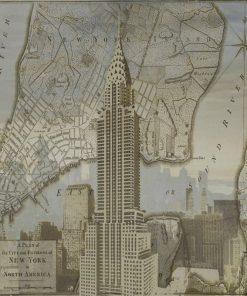 Immagine vintage del Chrysler Building