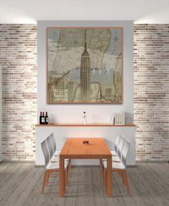 Ambientazione Immagine vintage dell'Empire State Building