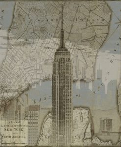 Immagine vintage dell'Empire State Building