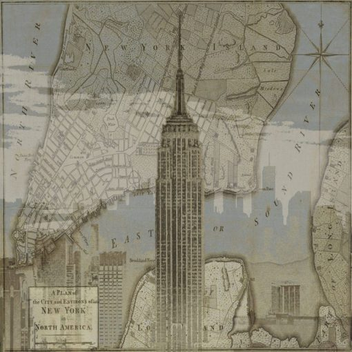 Immagine vintage dell'Empire State Building