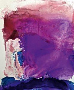 Mix di pittura viola e bianca
