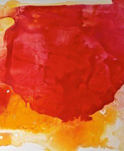 Macchia di colore rosso e arancio