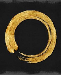 Cerchio dorato su sfondo nero