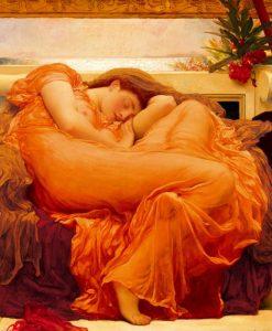 Ragazza dormiente in stile neoclassico