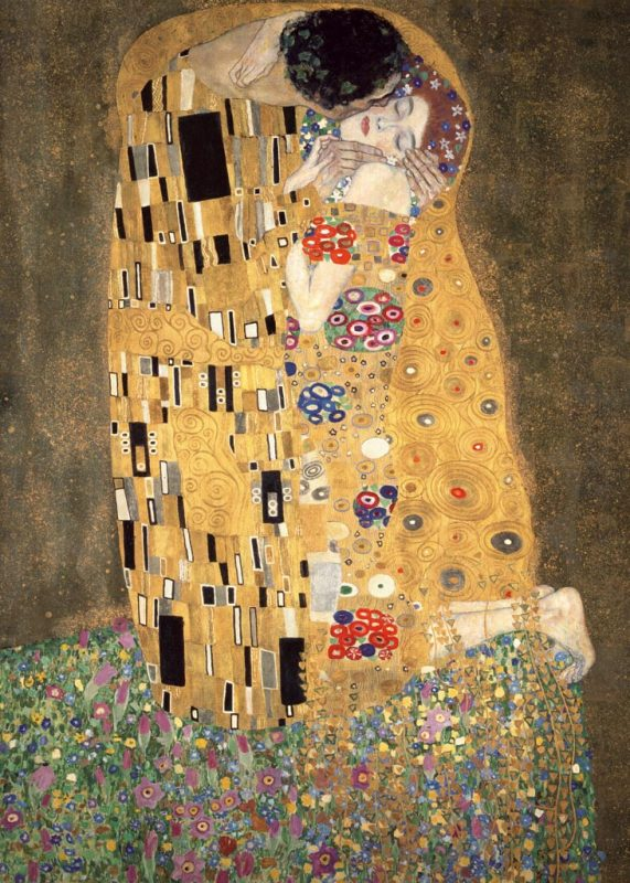 gustav klimt der kuss art plus vendita stampe su tela quadri e poster. Black Bedroom Furniture Sets. Home Design Ideas