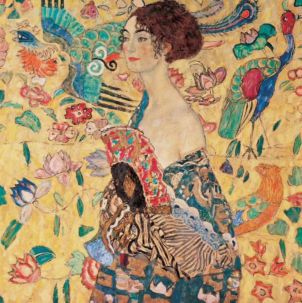 Gustav Klimt - Donna con Ventaglio - ART+PLUS vendita stampe su tela, quadri  e poster
