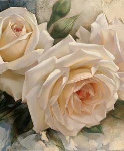 Romantiche rose color bianco