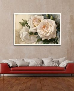 Ambientazione Romantiche rose color bianco