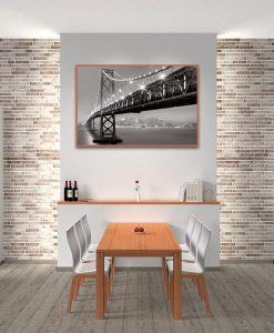 ambientazione Bay Bridge illuminato
