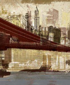 Disegno del ponte di Brooklyn