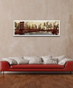 Disegno tecnico ponte per New York