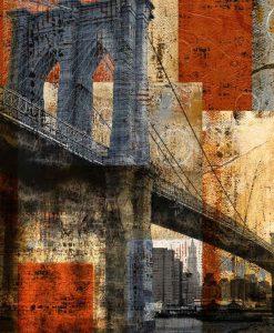Stampa con effetti del Brooklyn Bridge