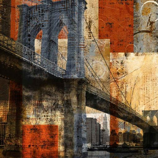 Stampa con effetti del Brooklyn Bridge