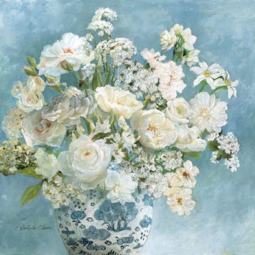 Romantici fiori ornamentali in vaso