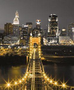 Vista dall'alto di un ponte