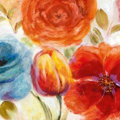 Composizione di fiori rossi vintage