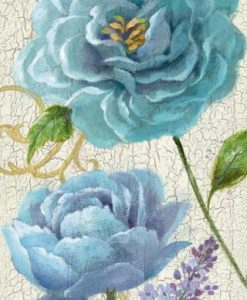 Rose blu ornamentali in stile vintage