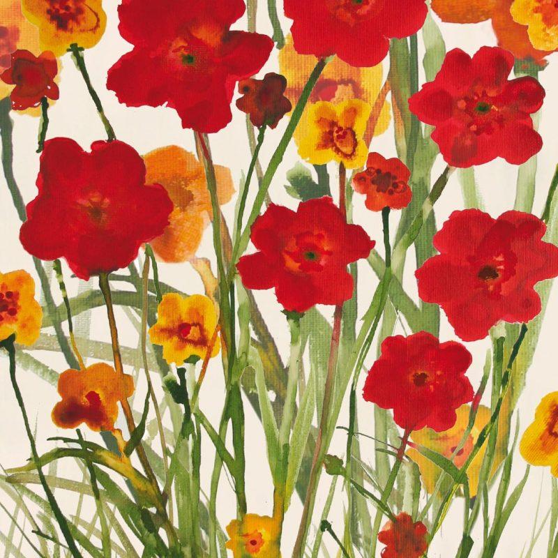 Susan Jill - Picking Flowers - ART+PLUS vendita stampe su tela ...