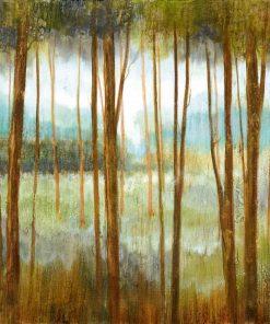 Delicato dipinto di una foresta