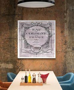 Etichetta vintage Eau de Cologne