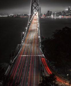 Il Bay Bridge di notte