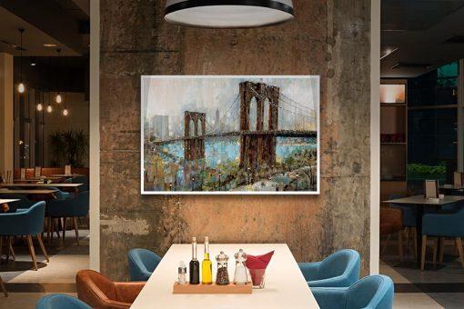 Ambientazione Dipinto del ponte di Brooklyn