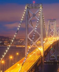 Cala la notte sul Bay Bridge