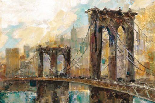 Dipinto astratto del ponte di Manhattan