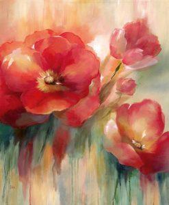Delicate rose selvatiche rosse