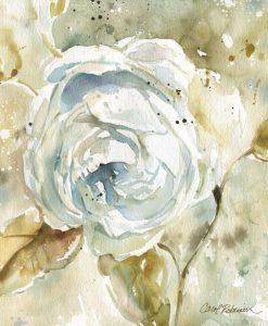 Acquerello astratto di una rosa