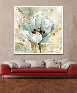 Ambientazione Acquerello astratto di una tulipano