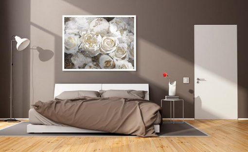 Ambienatazione Mazzo di rose bianche
