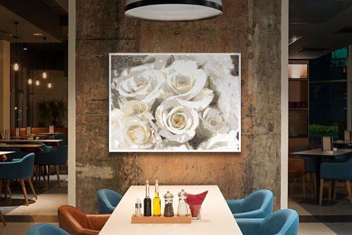Ambientazione Mazzo di rose bianche