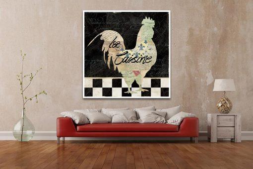 Silhouette di un gallo decorativa